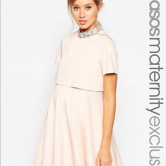 2badd7410a600 ASOS Maternity Dresses & Skirts - ASOS Maternity Skater Dress with  Embellished Neck